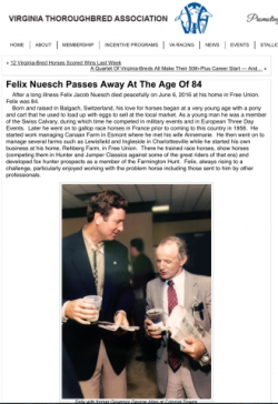 Felix Nuesch Passes Away