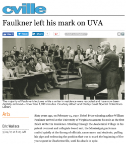 Faulkner Left His Mark on UVA