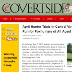 April Hunter Trials in Central Virginia Provide Fun for Foxhunters of All Ages!