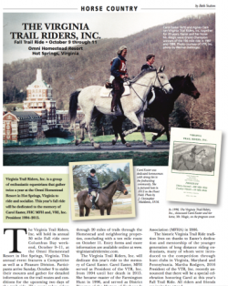 The Virginia Trail Riders, Inc.