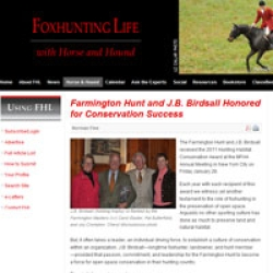 Farmington Hunt & J.B. Birdsall Honored for Conservation Success