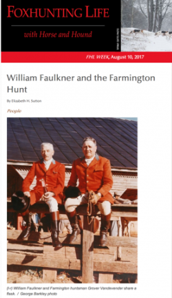 William Faulkner & The Farmington Hunt